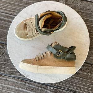 Kids BUSCEMI Camo 100MM High Top Sneakers Hype Lux